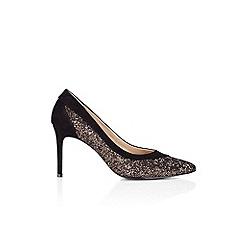 Wallis - Bronze glitter point shoes