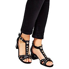 Wallis - Black embellished sandals