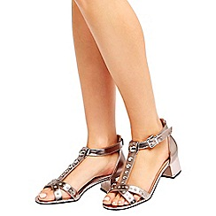 Wallis - Pewter embellished sandals