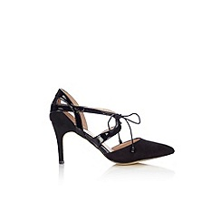 Wallis - Black lace point court  shoe