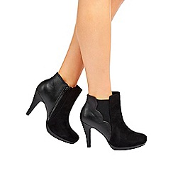 Wallis - Black platform ankle boot