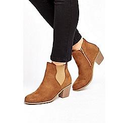 Wallis - Mocha western ankle boots