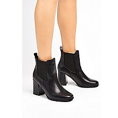 Wallis - Black pull on chelsea ankle boots