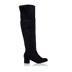 Wallis - Black suedette hunter boot