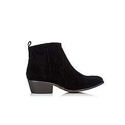 Wallis - Black western ankle boots