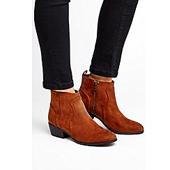 Wallis - Tan western ankle boots