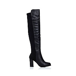 Wallis - Black mixed material boot