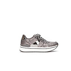 Wallis - Pewter shimmer trainers