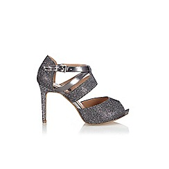Wallis - Silver platform glitter sandal