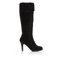 Wallis - Black platform knee high boot