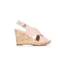 Wallis - Pale pink slingback wedge sandals