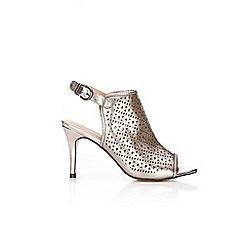 Wallis - Silver peep toe heeled sandals