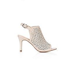 Wallis - Nude peep toe heeled sandals