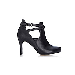 Wallis - Black open strap shoe boots