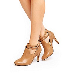 Wallis - Camel cross strap shoe boots