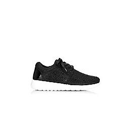 Wallis - Black brighton lace up trainers