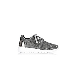 Wallis - Pewter brighton lace up trainers