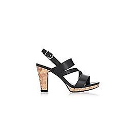 Wallis - Black asymmetric platform sandals