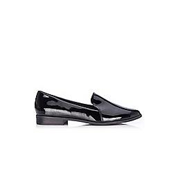 Wallis - Black patent slip on loafers