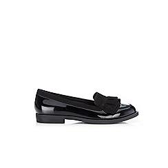 Wallis - Black ruffle patent loafers