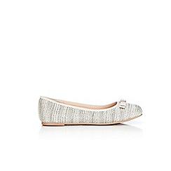 Wallis - Grey woven trim ballerina sandals