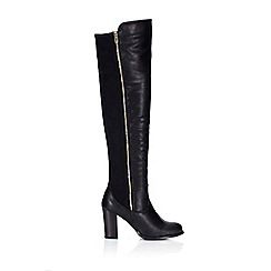 Wallis - Black leather look boot
