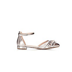 Wallis - Silver metallic pointed shoes