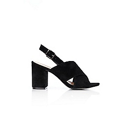 Wallis - Black block heel sandals