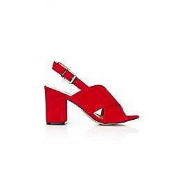 Wallis - Red block strap heels
