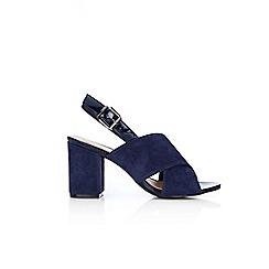 Wallis - Navy block heel sandals