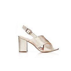 Wallis - Gold block heel sandals