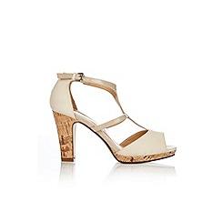 Wallis - Cream t-bar platform sandals