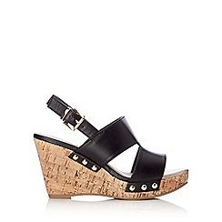 Wallis - Black studded wedge sandal