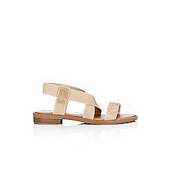 Wallis - Stone diamante strap flat sandal