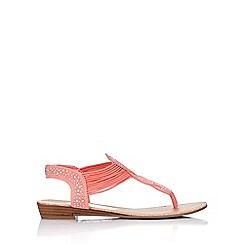 Wallis - Coral embellished flat sandal