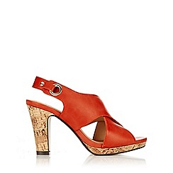 Wallis - Red sling back heeled sandal