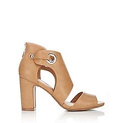Wallis - Camel cuff block heel sandal