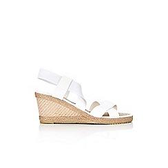 Wallis - White cross over wedge sandal