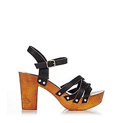 Wallis - Black t-bar clog sandal