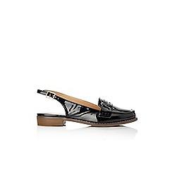 Wallis - Black patent slingback loafer
