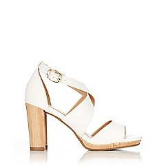 Wallis - White strap heeled sandal