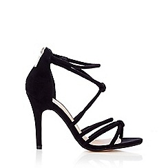 Wallis - Black knotted heeled sandal