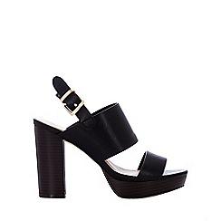 Wallis - Black t-bar paltform sandal