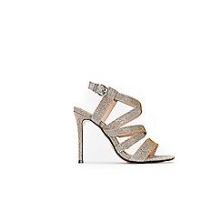 Wallis - Silver multi strap heeled sandals