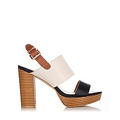 Wallis - Cream t-bar platform sandal