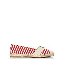 Wallis - Red striped espadrille