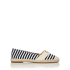 Wallis - Navy striped espadrille