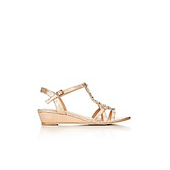 Wallis - Gold bead trim sandal
