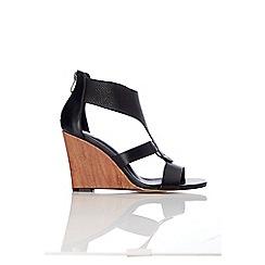 Wallis - Black wedge sandal