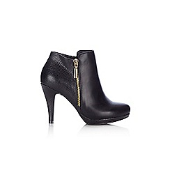 Wallis - Black side zip platform ankle boot